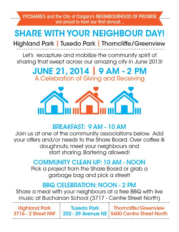 yycshares Tuxedo Park Neighbor Day June 21 2014