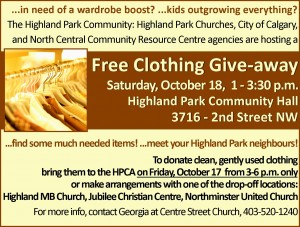 2014-10-18 Clothing Give-away