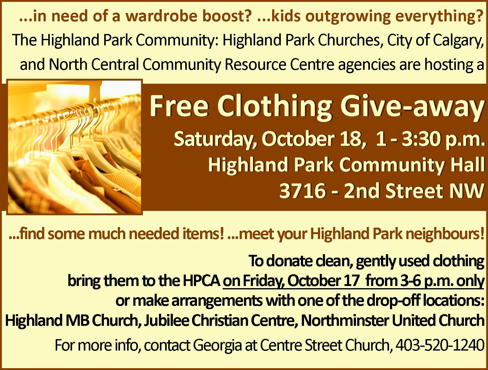 Free Clothing Give Away!